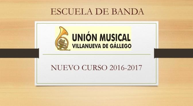 INICIO NUEVO CURSO ESCUELA DE MUSICA 2016/17